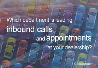Service department is leading the most calls and appointments at auto dealerships