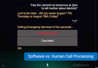 Software vs human call processing