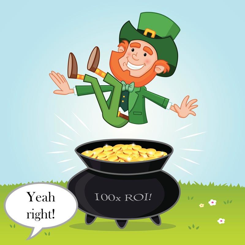 100x ROI leprechaun gold pot callsource ppc call