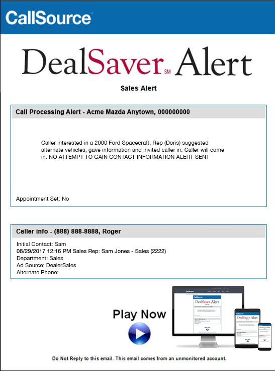 DealSaver Alert Sample