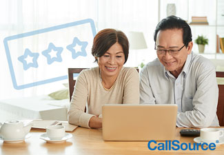 Older couple using the internet