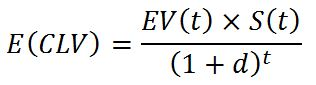 Formula to calculate the expected customer lifetime value