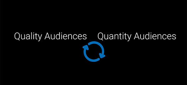 Quantity vs. Quality of the audiences