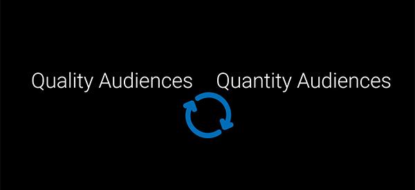 Quantity vs. Quality of the audiences