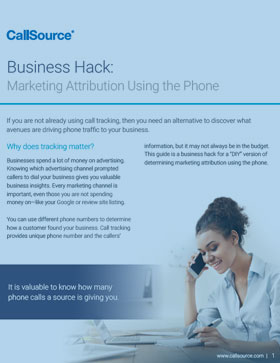 Business Hack: Marketing Attribution Using the Phone