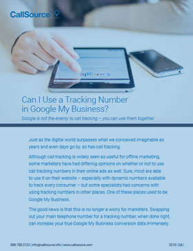 Can I Use a Tracking Number in Google My Business?