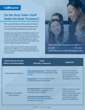 Do the Best Sales Staff Make the Best Teachers to Train Your Staff?