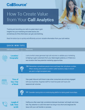 How to Create Value from Your Call Analytics with CallSource