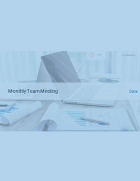 CallSource's Monthly Team Meeting PowerPoint Slide Deck Template