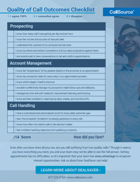 Quality of Call Outcomes Checklist: How Are Your Calls Faring?