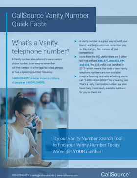 Vanity Number Quick Facts