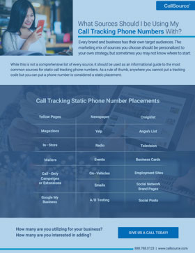 What Sources Should I be Using My Call Tracking Phone Numbers With?