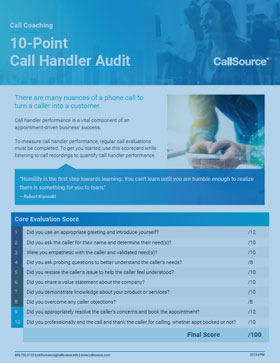 10-Point Call Handler Audit