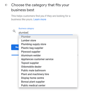 Google My Business setup: Choose the category that fits your business best