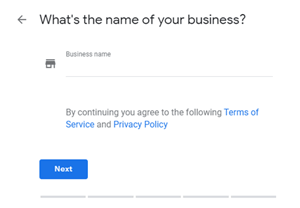 Google My Business: What's the name of your business?