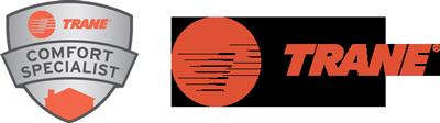 Trane & Trane Comfort Specilist logos