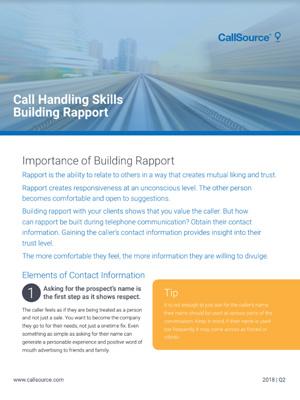 Call Handling Skills: Building Rapport