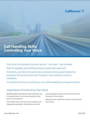 Call Handling Skills: Controlling Your Voice