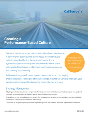 Creating a Performance-Based Culture