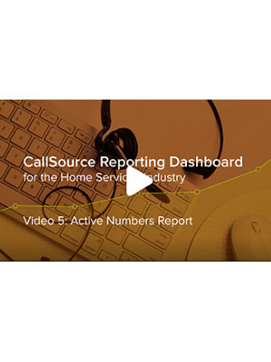 CS Reporting Dashboard – Video 5: Active Numbers Report