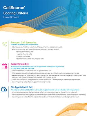 CallSource Scoring Criteria - Home Services